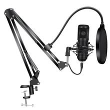 192KHz/24Bit BM800 Condenser Microphone Kits USB for Computer Karaoke Microphone for Sound Studio Recording Microfone Gamer