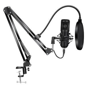 192KHz/24Bit BM800 Condenser Microphone Kits USB for Computer Karaoke Microphone for Sound Studio Recording Microfone Gamer(China)
