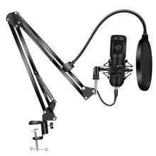 192Khz/24Bit BM800 Condensator Microfoon Kits Usb Voor Computer Karaoke Microfoon Voor Sound Studio Recording Microfoon Gamer