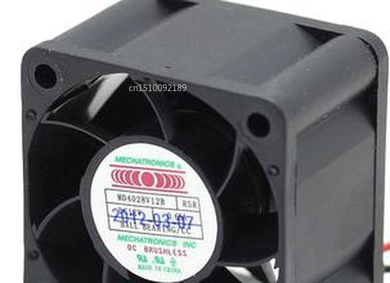 For MECHATRONICS 4028 Server Double Ball Bearing MD4028V12B1 RSR Cooling Fan Free Shipping