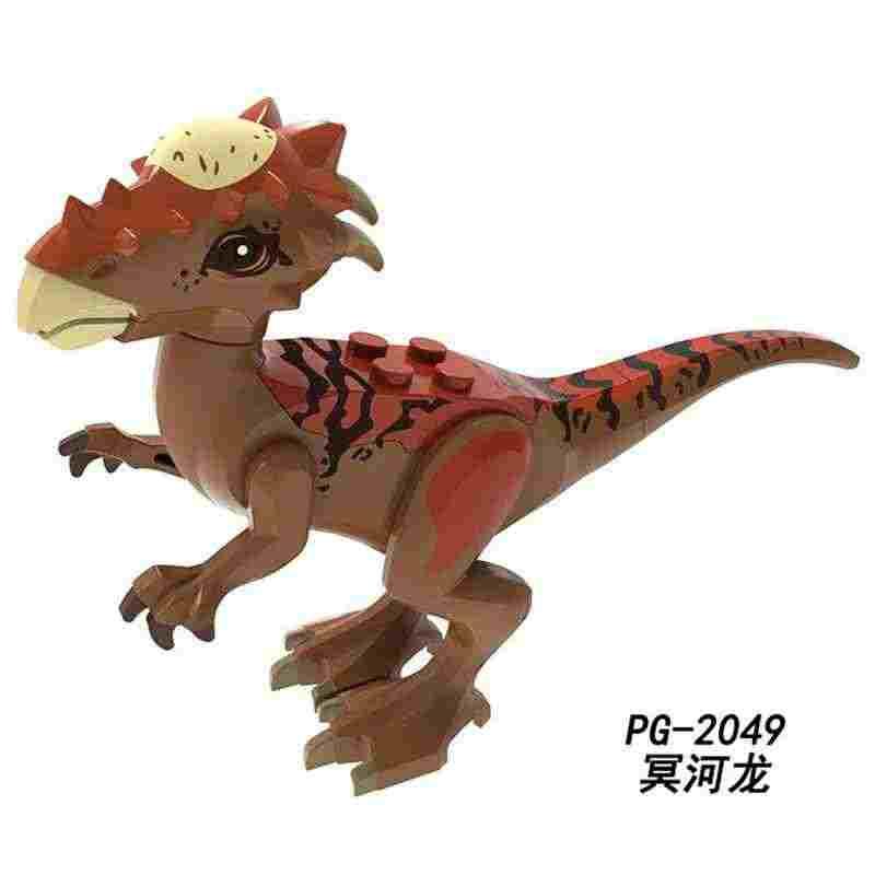 Legoing الجوراسي ديناصور الحيوانات تجميع ألعاب مكعبات البناء للأطفال الجوراسي Stygimoloch هدية الديناصورات الشكل Legoings