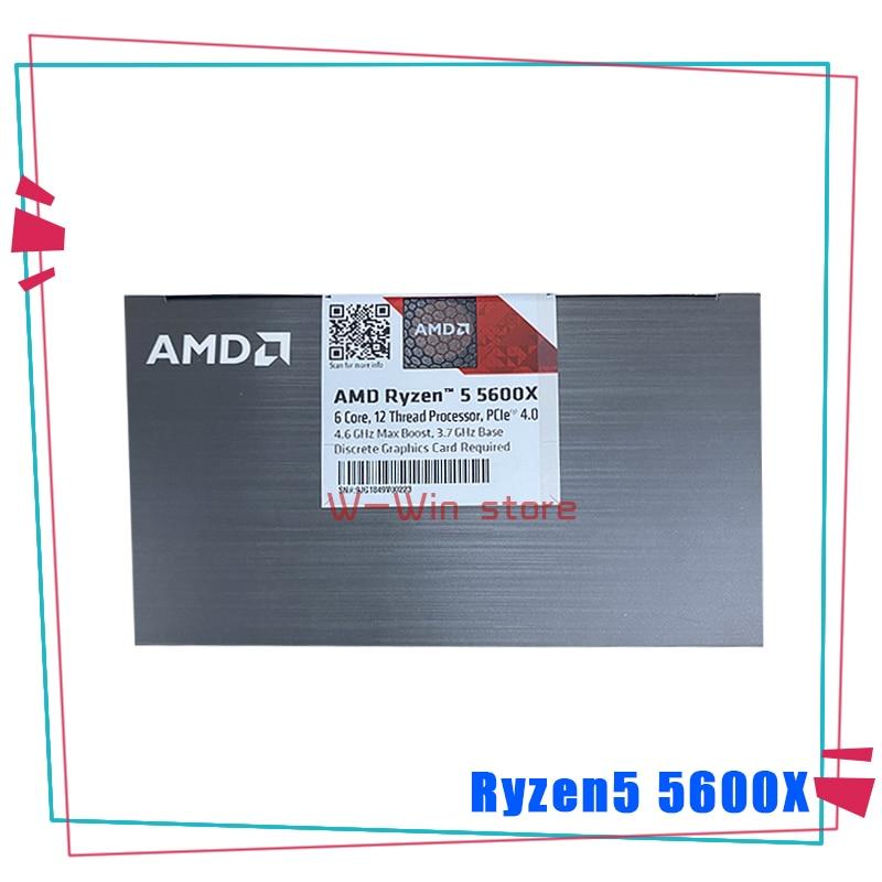 NEW AMD Ryzen 5 5600X R5 5600X 3.7 GHz Six-Core twelve-Thread 65W CPU Processor L3=32M 100-000000065 Socket AM4 with cooler fan 3