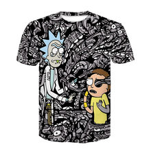 Explosions Spring and Summer Casual Men's T-shirts Europe and America Trend Short Sleeve 3D Cartoon Character Tops