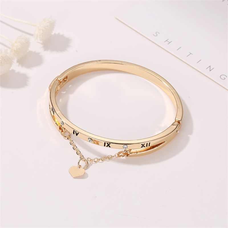 Braccialetti di lusso in acciaio inossidabile di lusso in oro rosa braccialetti cuore femminile matrimonio amore braccialetto di fascino di marca per le donne gioielli famosi