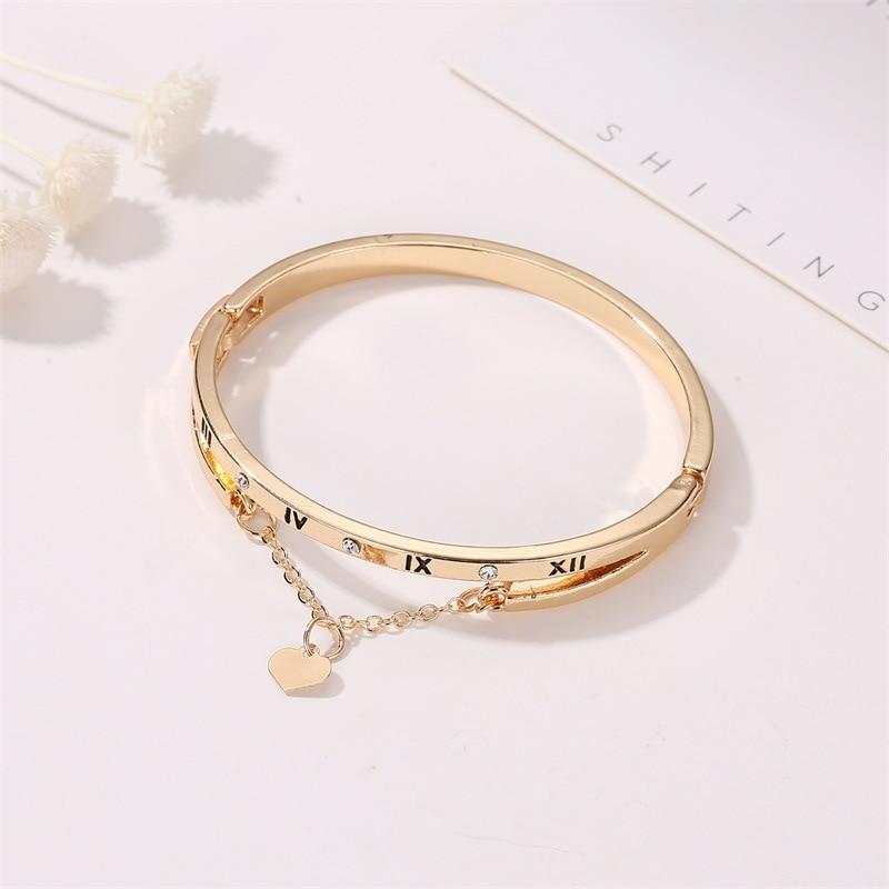 Hot Luxury Rose Gold Stainless Steel Bracelets Bangles Female Heart Wedding Love Brand Charm Bracelet for Women Famous Jewelry