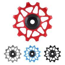 Polia leve 12t mountain bike bicicleta traseira desviador polia guia roda liga da bicicleta traseira desviador polia