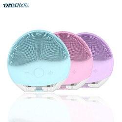 Mini cepillo de limpieza Facial eléctrico de silicona limpiador sónico limpieza profunda de poros limpiador de cara impermeable USB
