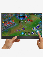 1080P Touch 15.6 portable monitor With Type C ,13.3 inch portable LCD monitor HDR ultra slim display for Mac/PC/smart phone/PS4