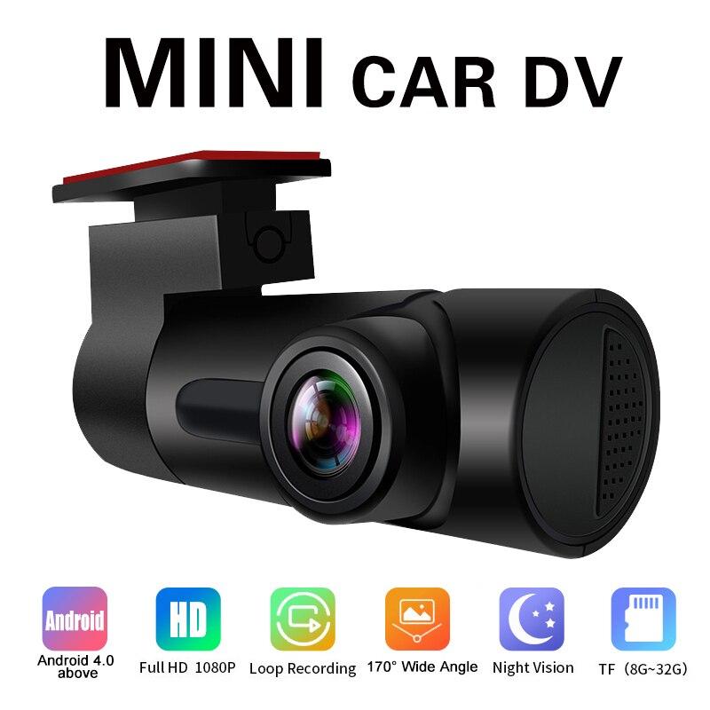 Автомобильный видеорегистратор DV с голосовым управлением на английском и русском языках, USB 1080P, 30 кадров в секунду, HD, ночное видение, Wi-Fi, ав...
