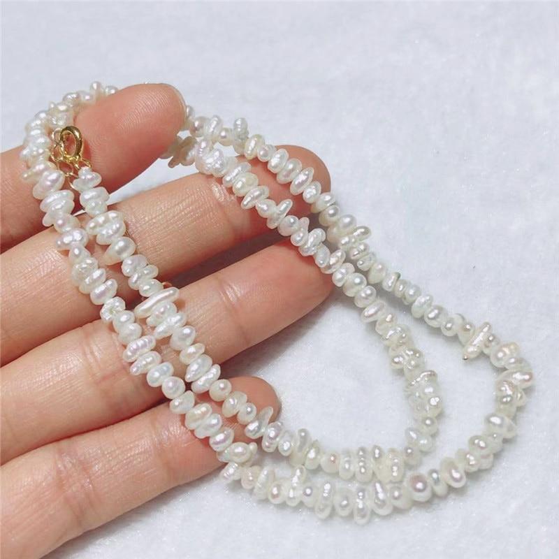 New fashion natural irregular keshi Freshwater white pearl Necklace bracelet sets clasp