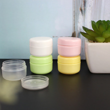 1PC 10g-250g Plastic Empty Makeup Jar Pot Refillable Sample bottles Travel Face Cream Lotion Cosmetic Container Colorful New