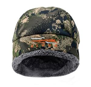 Image 3 - 2020 Winter Hat Men Sitka Hunting Beanie Camouflage Warmest Windstopper Primaloft Soft Fur SITKA Cap Man Sports Thermal One Size