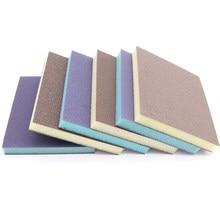 1/5/10/20 pces almofadas de esponja de lixamento flexíveis molhado/seco espuma lixa polimento bloco 80-280 grão