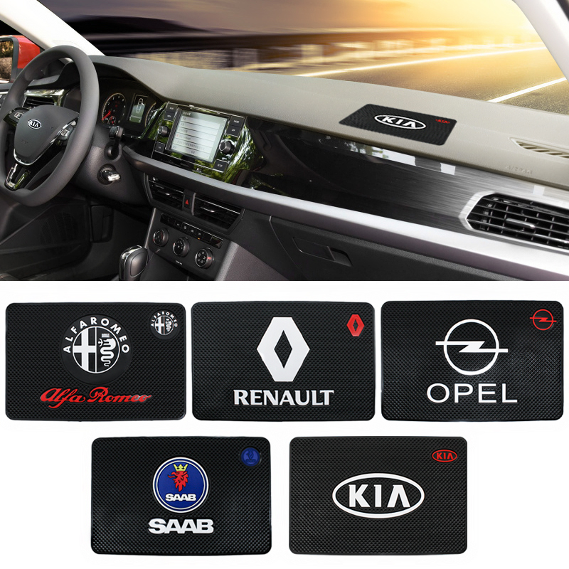 Car Anti Slip Pad Silica Gel Sticky Pad Dashboard Mobile Phones Shelf Cushion for Subaru BMW Audi Kia Opel Ford Chevrolet Skoda