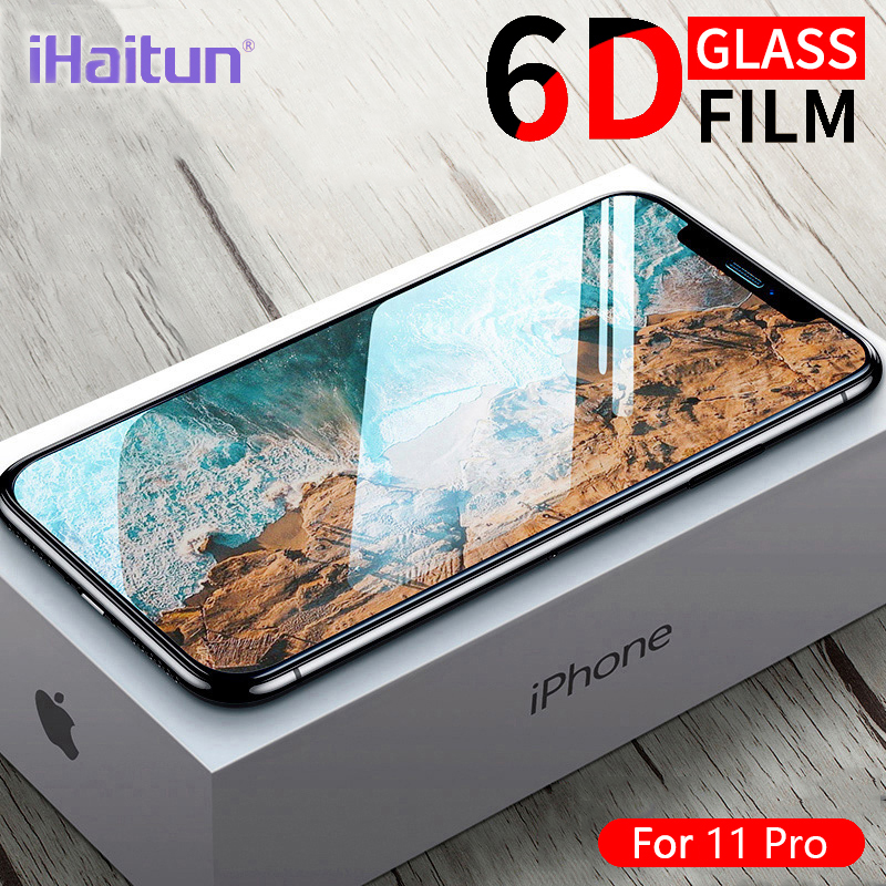 IHaitun 6D Film Glass Screen Protector For IPhone 11 Pro Max XS MAX X XR Cover Protection Accessories Glass For IPhone 7plus