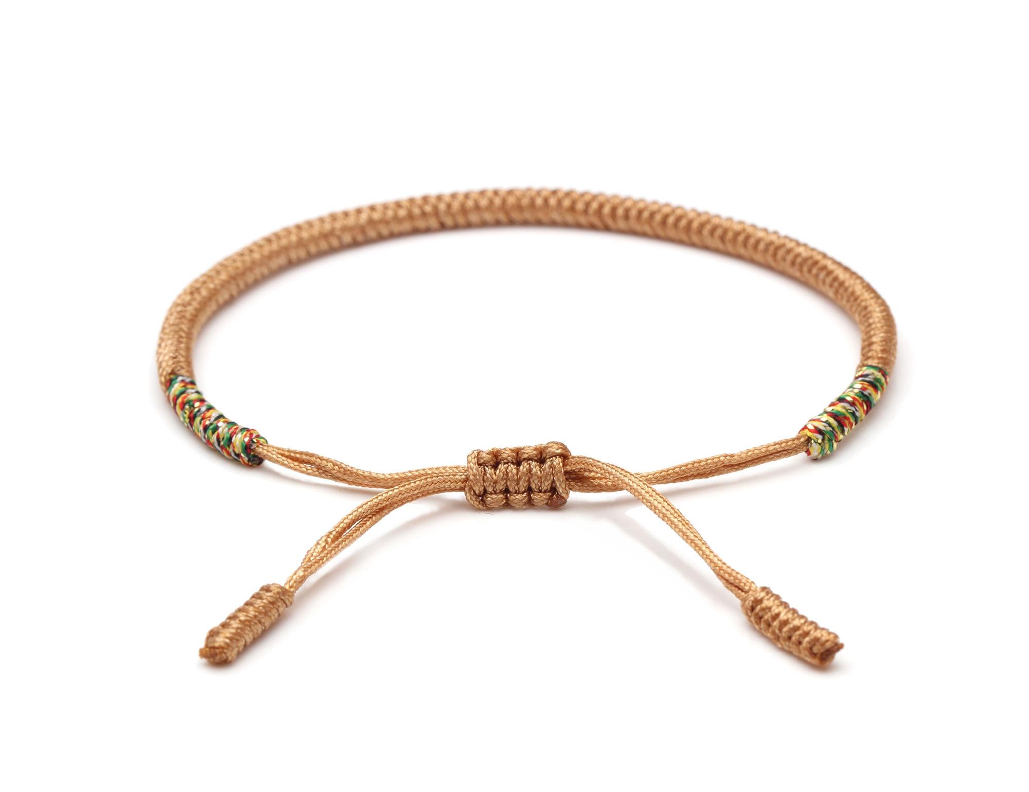 Original Tibetan Buddhist Lucky Knot Handmade Bracelet Women Men 2019 New Fashion Ethnic Colored Rope Handcrafted String Jewelry