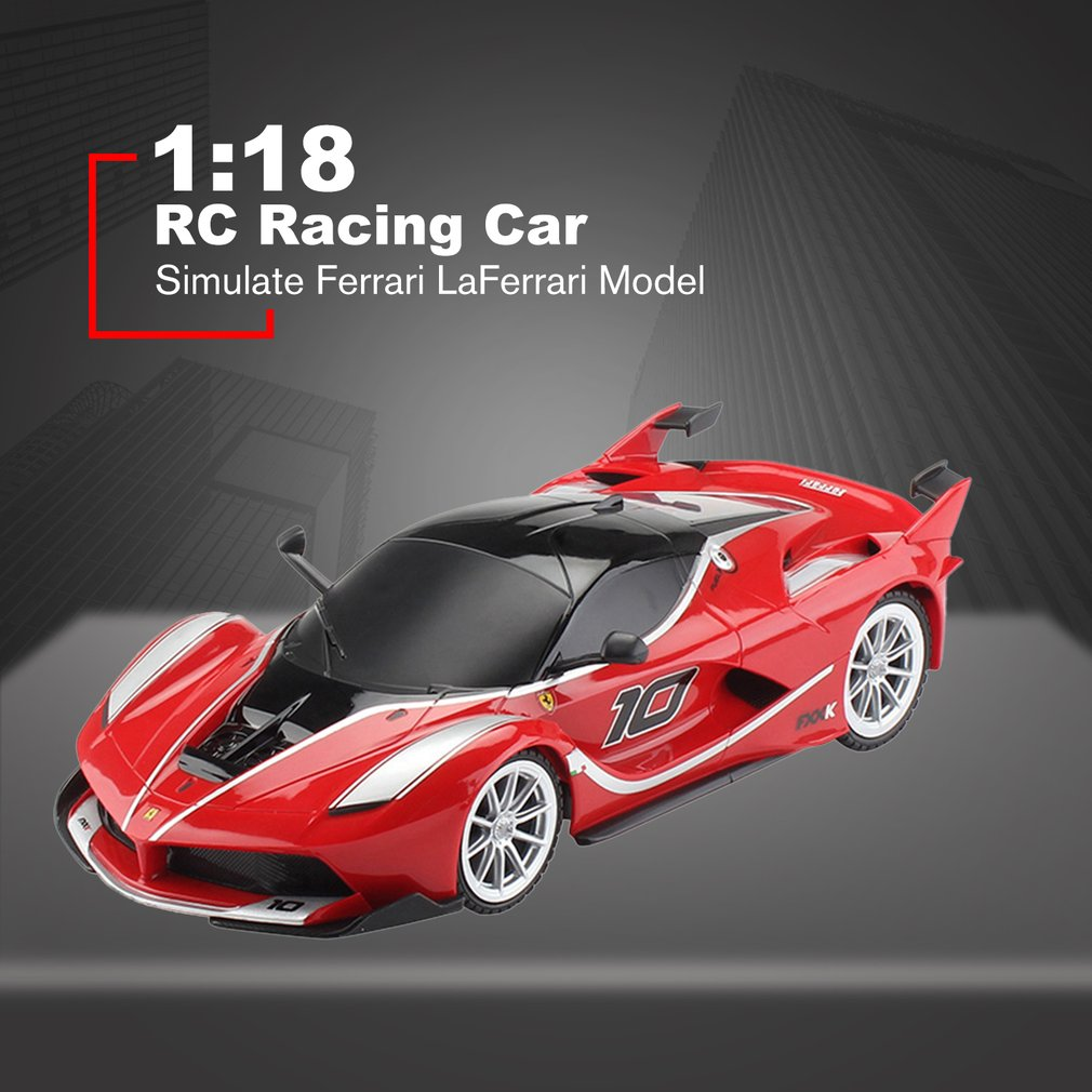 FXXK AA 1:18 RC Racing Car 4 Channels Remote Control Simulate Ferrari LaFerrari Model Toys For Children Gifts RC Car