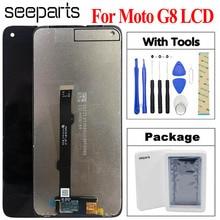 "Original New Tested 6.4"" For Motorola Moto G8 Lcd Screen Display Touch Digitizer Assembly G8 XT2045 1 XT2045 2 XT2045 5 LCD"