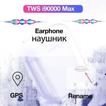 I90000 Max Tws bezprzewodowe słuchawki Bluetooth słuchawki z mikrofonem GPS zestaw słuchawkowy stereo do gier w uchu sportowe słuchawki douszne basowe tanie i dobre opinie MOOJECAL Orthodynamic wireless Z pałąkiem na kark 120±5dBdB 0Nonem Monitor Słuchawkowe Do Gier Wideo Wspólna Słuchawkowe