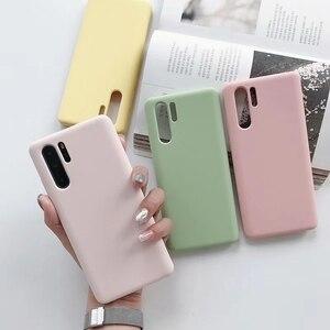 Image 2 - TD5088 silikon kılıf için Huawei P30 saf renk koruyucu kılıflar