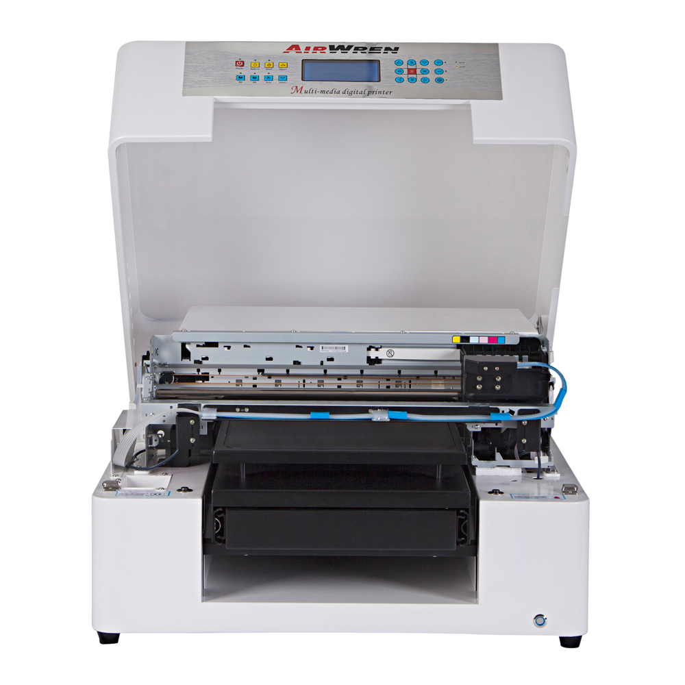 High Performance A3 Flatbed DTG Printer For T-shirt Fabric Textile Printing With CMYK And White Color