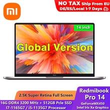 New Original Xiaomi Redmibook Pro 2021 Laptop I7/i5 Ultrabook Notebook 14 Inch 16 RAM 512GB SSD Windows 10 Computer Pc Portable