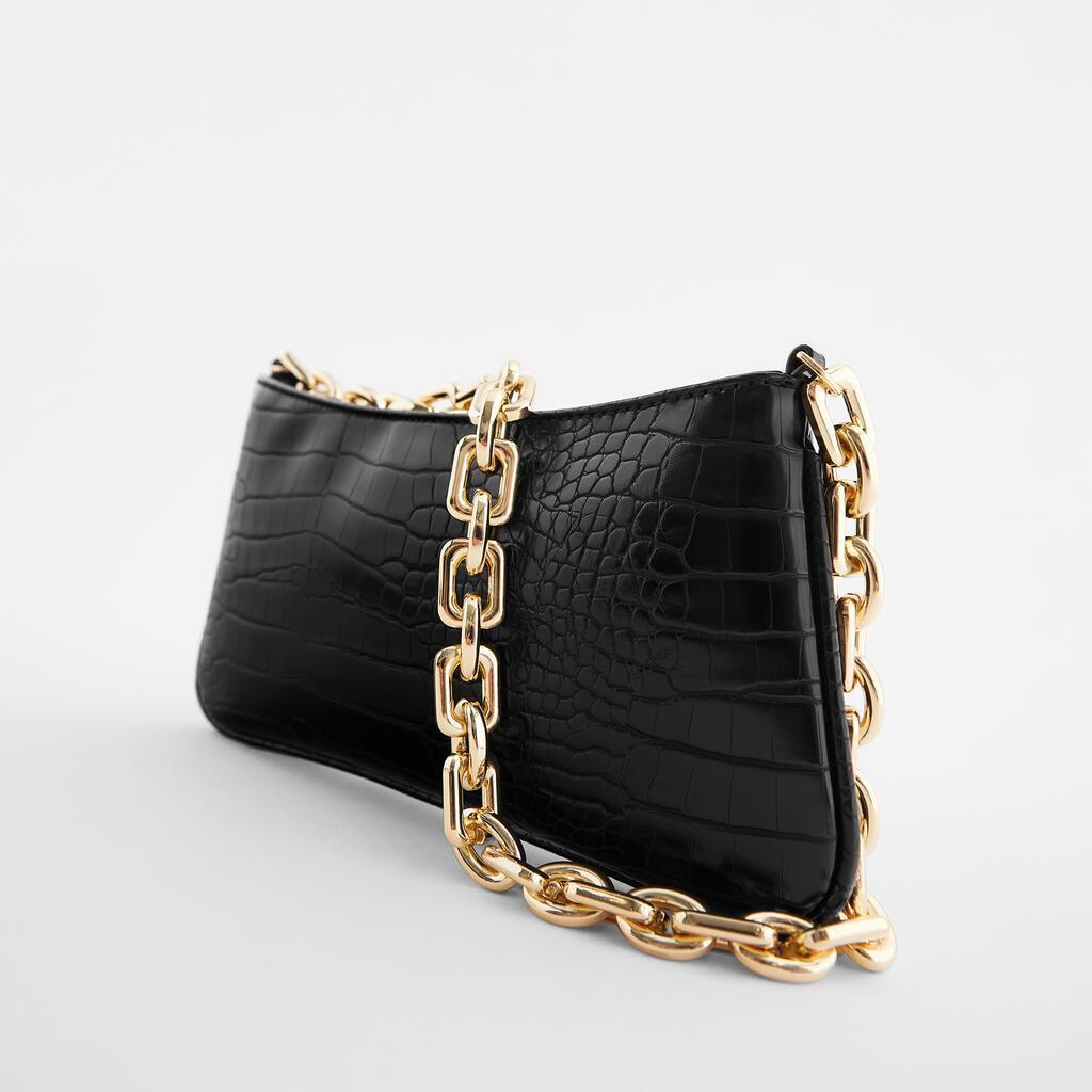 Handbags Crocodile Pattern Underarm Bag 2021 New Thick Chain Quality PU Leather Brand Handbags High Capacity Shoulder Bags