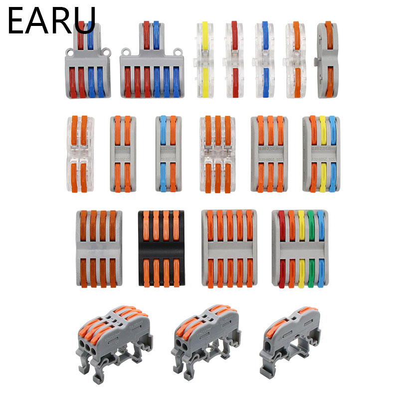 Permalink to SPL-1/2/3/4 Dual Head Mini Quick Fast Wire Connector Universal Wiring Cable Connector Push-in Conductor Terminal Block LED Lamp