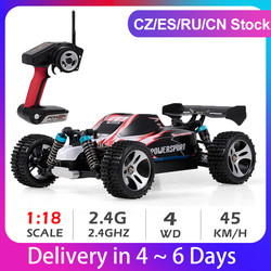 Wltoys A959 1:18 2.4Ghz 4WD RC Car Off-Road Car 45KM/H High Speed Racing Buggy Car Remote Control Vehicle RTR RC Car Toys Kids