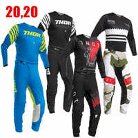 2020 PRIME Motocross Gear Set With short Dirt Bike Moto Jersey Set ATV Suit Motorcycle Cloth MX Combo Off Road Jersey And Pant