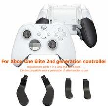 4 قطعة معدنية المجاذيف الإلكترونية آلة اكسسوارات ل Xbox النخبة اللاسلكية تحكم سلسلة 2 استبدال أجزاء