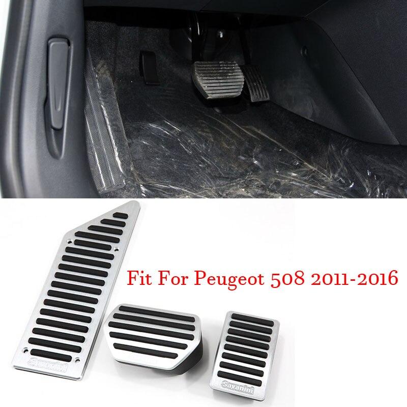 Couvercle de plaque de pédale de repose-pieds de frein à gaz accélérateur en alliage pour Peugeot 508 2011-2016 AT