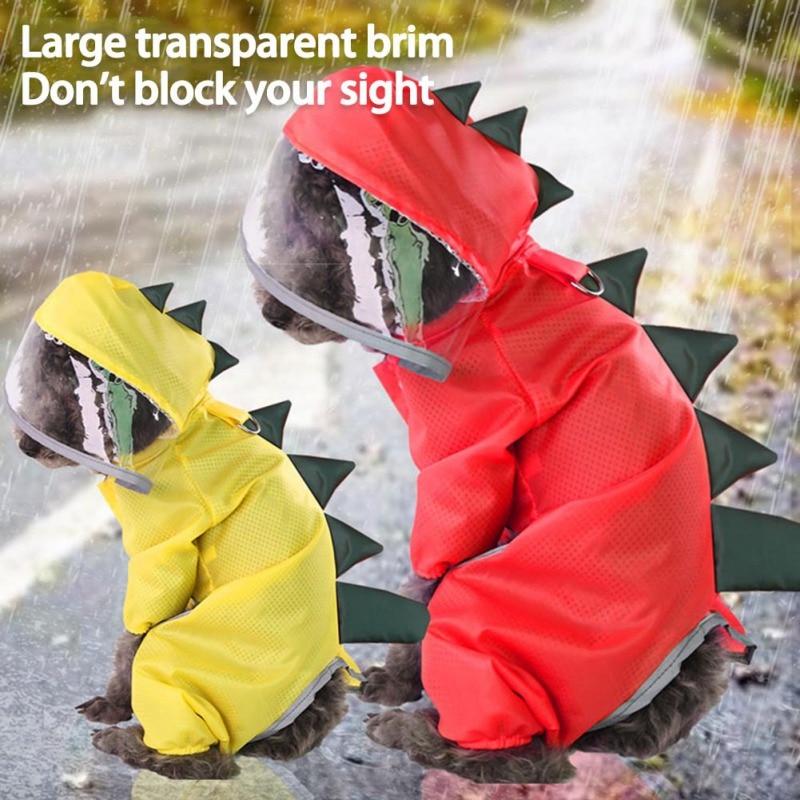 Reflective Cartoon RainCoat Summer Dog Clothes For Small Dogs Nylon Puppy Waterproof Rain Coat Ropa Perro Chihuahua Pet Clothes