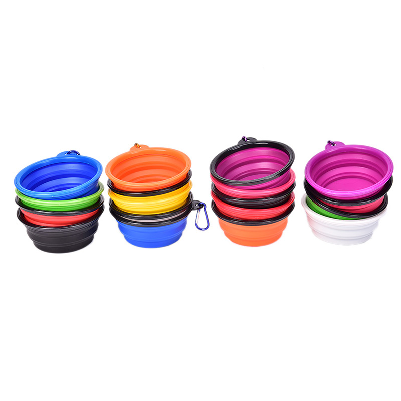 1pc Portable Travel Bowl For Dog Water Food Container Collapsible Silicone Multi-function Pet Folding Bowl Dog Drinker