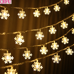 QIFU Snowman Elk Garland Holiday Light String Merry Christmas Decor for Home Christmas 2019 Ornament Navidad Natal New Year 2020 4