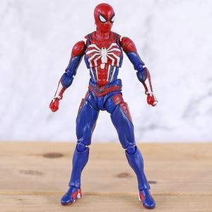 Image 2 - SHF Человек паук Homecoming пвх паук модель фигурку Бесконечность Военная Модель Коллекционная игрушка для мальчика подарки