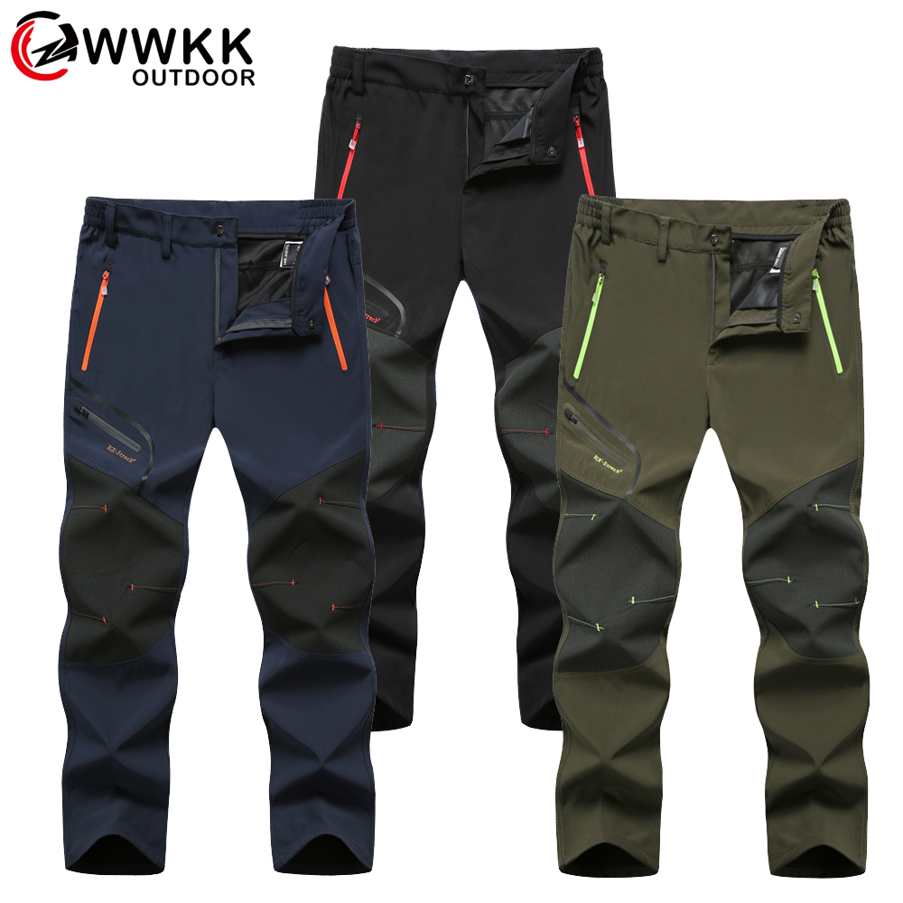 Waterproof Trekking Hiking Pants Men Softshell Fishing Camping Climb Ski Tactical Trousers Summer Winter Breathable Outdoor Pant