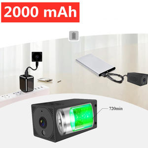 Wifi Mini Camera Night-Vision Remote 1080P Wireless IP Mah 2MP 2000 Baby-Monitor Built-In-Battery