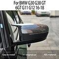 1 пара колпачков для зеркал заднего вида из углеродного волокна, боковой сигнал, форма зеркала, чехол для BMW G30 G38 GT G11 G12 2016 2017 2018