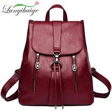 Moda çift fermuarlı İpli kadın sırt çantası deri sırt çantası büyük kapasiteli seyahat çantası kadın sırt çantası omuzdan askili çanta Mochila