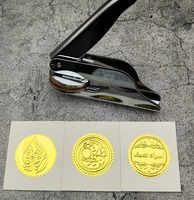Design Your Own Embosser Stamp / Custom Embosser Seal for Personalized / Wedding Seal Envelope Leather