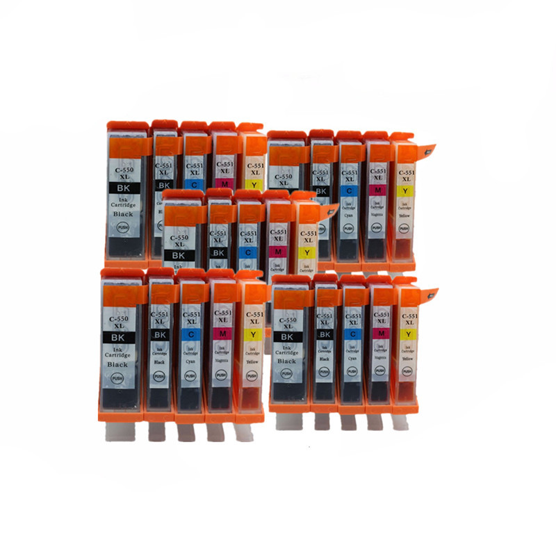 PGI 550 XL PGI550 PGI-550PGBK CLI-551 чернильные картриджи для Canon Pixma MG-6350 MG-6450 MG-7150 IP-7250 MX-925 струйный принтер