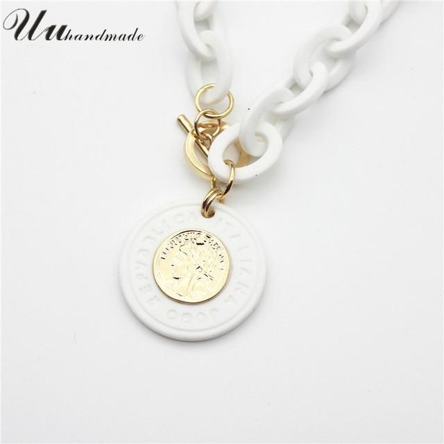 Coin Pendant geometric Necklace  4
