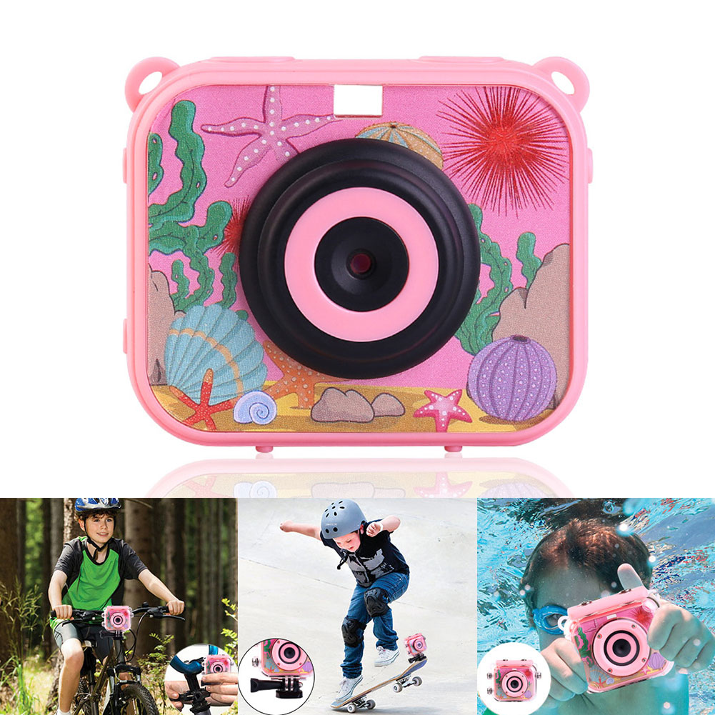 Digital Camera Recoder Mini USB Rechargeable Video Camcorder ABS Anti Fall Toys 2 Inch Screen Waterproof Gift Children HD 1080P image