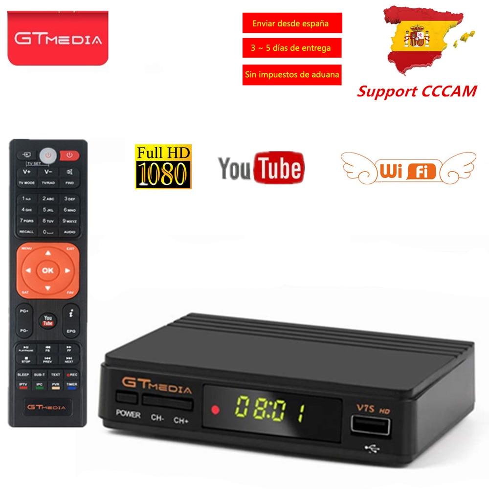 GTMEDIA V7S Freesat HD DVB S2 Satellite TV Receiver Tuner 1080p AVC/H.264 Support PowerVu DRE&Bisskey CCCAM DVB S2 V7S HD TV BOX