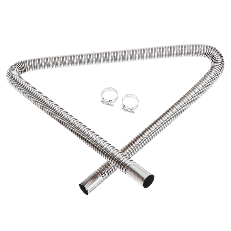 120CM Car Heater Stainless Steel Exhaust Pipe Parking Fuel Tank Air For D-iesels