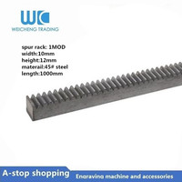 1pcs Spur Gear rack standard size for M1-10*12 length 1000mm rack Precision rack (straight teeth) cnc machine