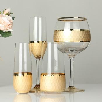 Creative crystal cup/wine glass honeycomb Set 1