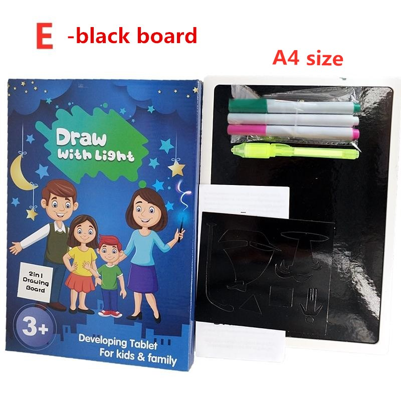 H3d64ac0d81d1491982c51e6a57118feb9 - Educational Toy Drawing Board Tablet Graffiti 1pc A4 A3 Led Luminous Magic Raw With Light-fun