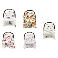 N7ME Multi-Use Nursing Cover Breastfeeding Scarf Baby Car Seat Covers Pure Cotton Stroller Canopy Blanket